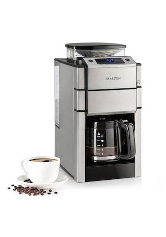 Klarstein Kaffeemaschine Mahlwerk Glaskanne Aroma+ Edelstahl kaufen