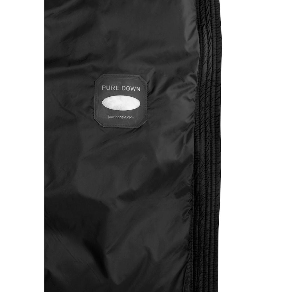 Bomboogie Daunenjacke »OSAKA«, modischer Daunenmantel mit Stehkragen & versteckter Kapuze