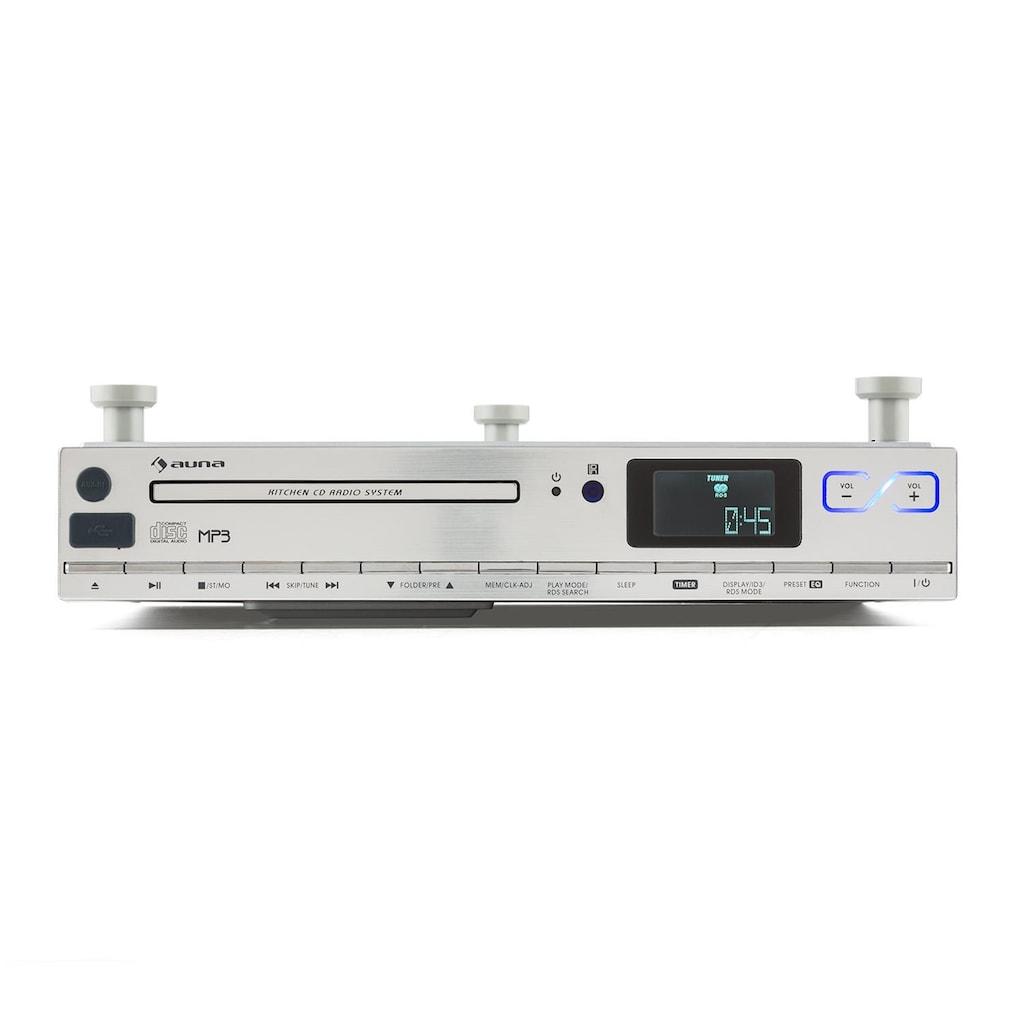 Auna Küchen Unterbau Radio CD MP3 UKW RDS USB AUX Uhr Fernbedienung