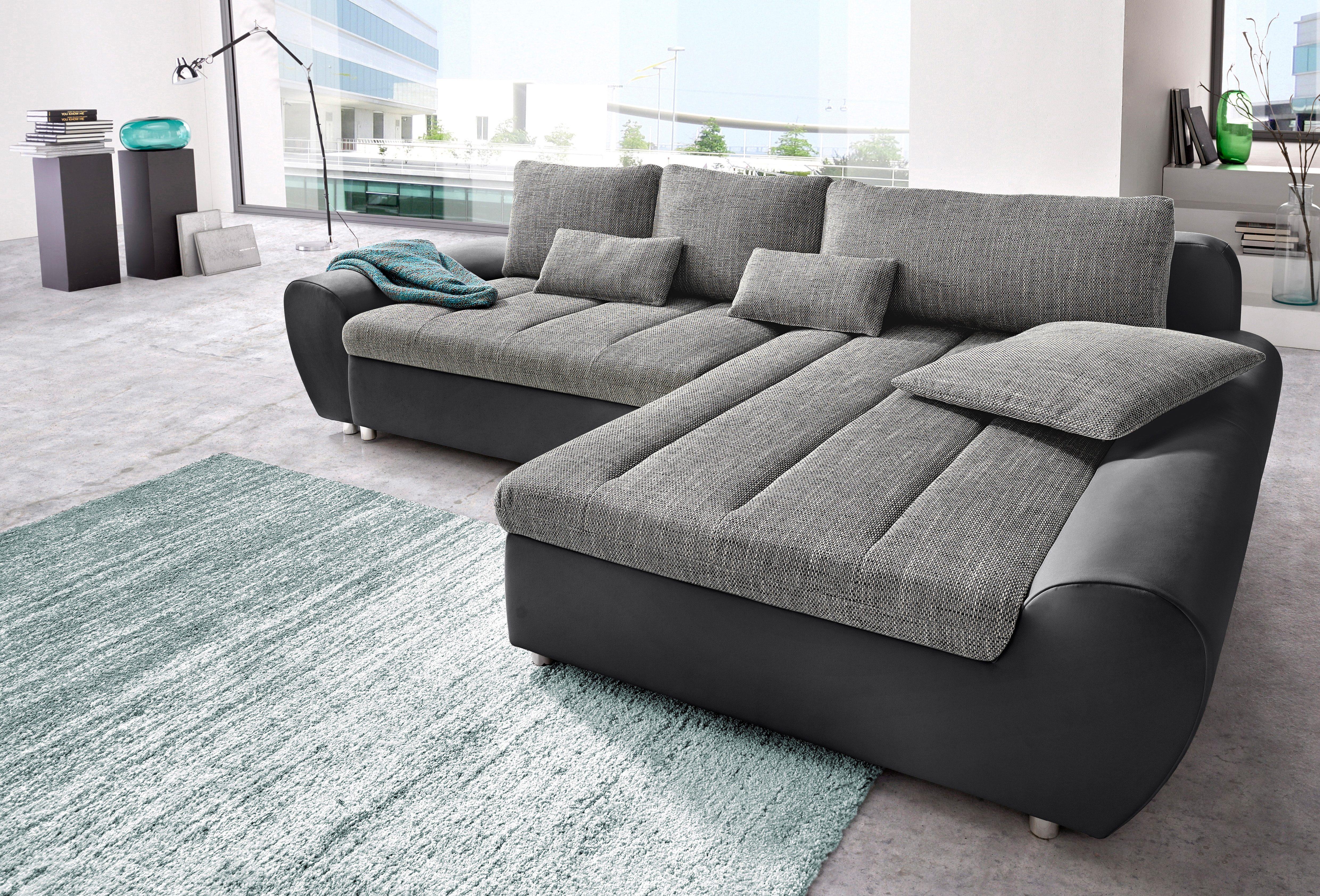 sit&more Ecksofa »Bandos« | Wohnzimmer > Sofas & Couches > Ecksofas & Eckcouches | Grau | sit&more