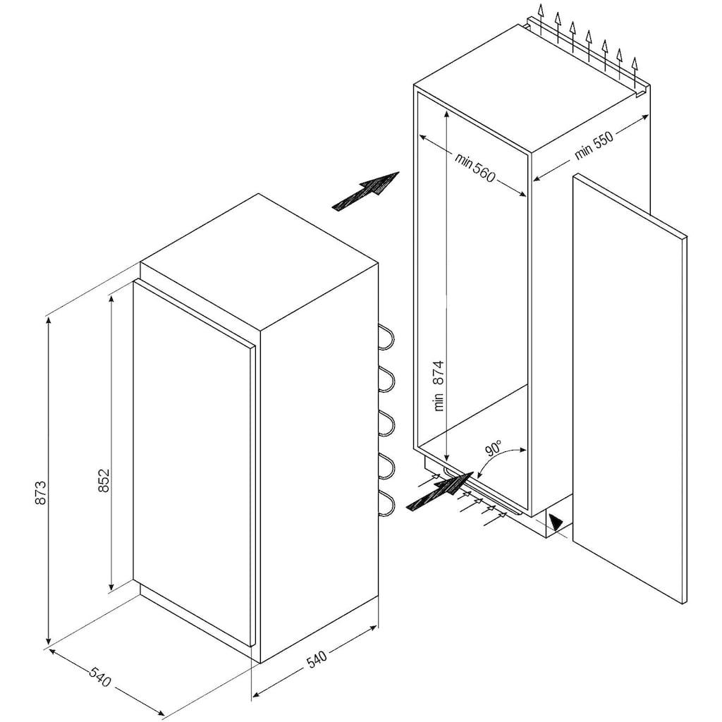 Amica Einbaugefrierschrank »EGS 16163«, 88,0 cm hoch, 54,0 cm breit, 85 cm hoch