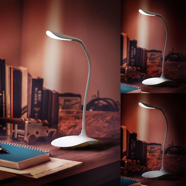 Brandson Stromsparende LED Schreibtischlampe »3 Helligkeitsstufen / Batteriebetrieb möglich«