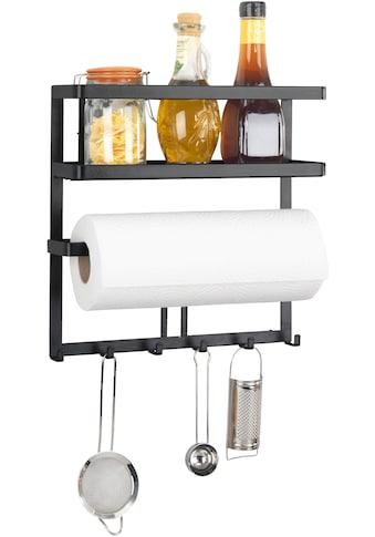 WENKO Küchenregal »l Gala«, (Set), mit Küchenrollenhalter & Reling inkl. 6 Haken,... kaufen