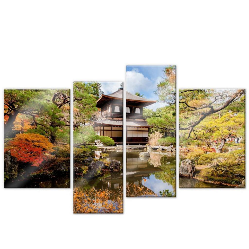 Wall-Art Mehrteilige Bilder »Japanischer Tempel (4-teilig)«, (Set, 4 St.)