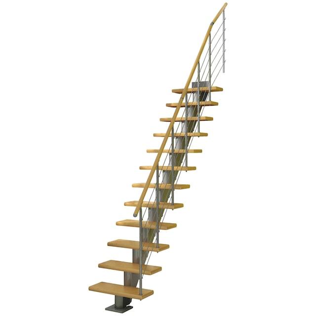 DOLLE Mittelholmtreppe »Frankfurt Birke 65«, bis 301 cm, Edelstahlgeländer, versch. Ausführungen