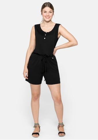 Sheego Jumpsuit, in ärmelloser Form, mit Zierknöpfen kaufen