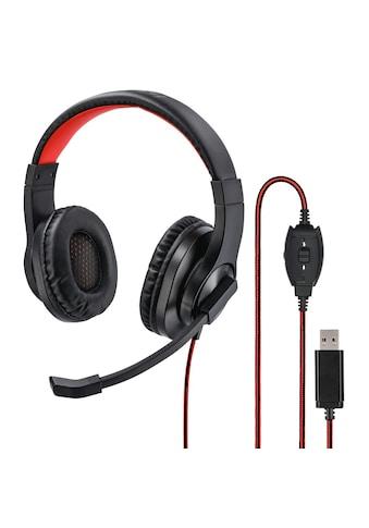 "Hama PC-Office-Headset ""HS-USB400"", Stereo, Schwarz kaufen"