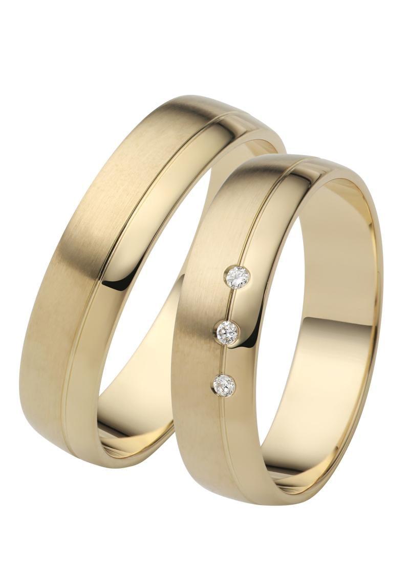 Firetti Trauring mit Gravur »5,0 mm, glanz, seidenmatt, Diamantschnitt« | Schmuck > Ringe > Ringe mit Gravur | Firetti