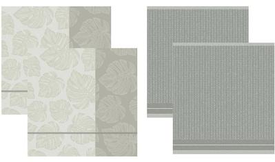 DDDDD Geschirrtuch »Monstera«, (Set, 4 tlg.), Combiset: 2 Küchentücher & 2 Geschirrtücher kaufen