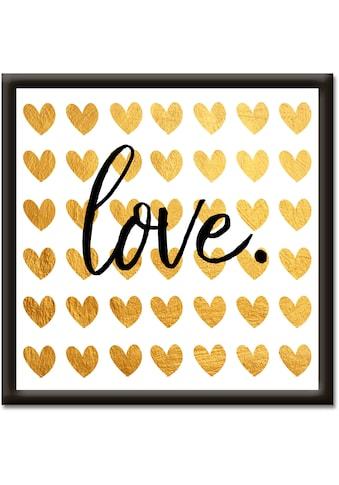 Artland Wandbild »Goldene Liebe« kaufen