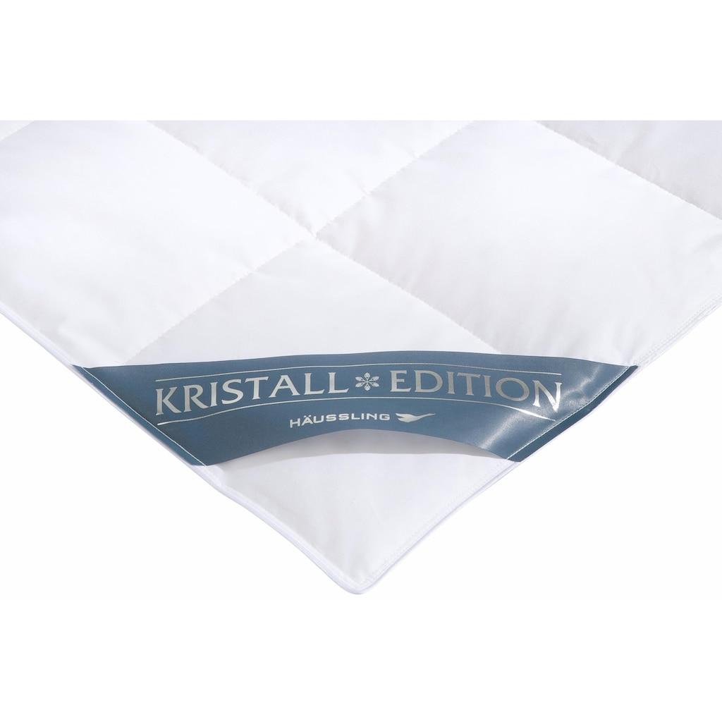 Haeussling Daunenbettdecke + Kopfkissen »Kristall Edition«, (Spar-Set), Spar-Set in verschiedenen Wärmeklasssen