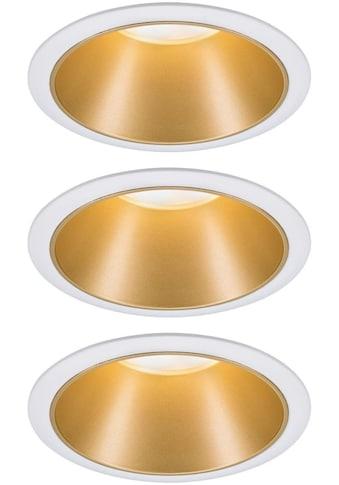 Paulmann LED Einbauleuchte »3er Set Cole 3x6,5W Weiß/Gold matt 3-Stufen-dimmbar 2700K... kaufen