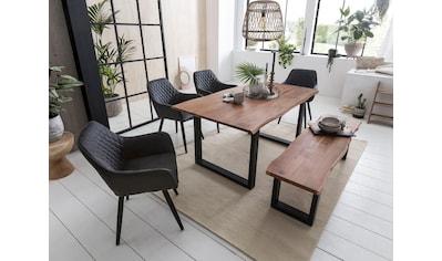 Home affaire Esstisch »Soho«, mit vollmassiver Akazienholzplatte mit Baumkante kaufen
