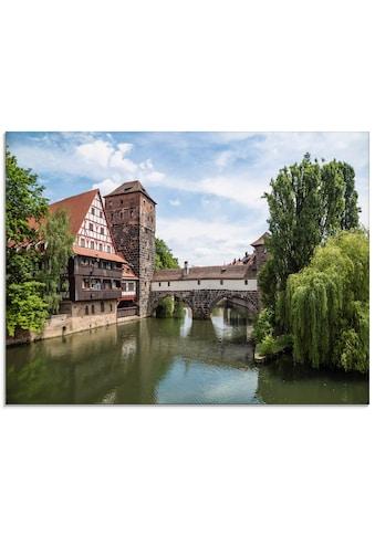 Artland Glasbild »Nürnberg Maxbrücke zum Henkersteg«, Europa, (1 St.) kaufen
